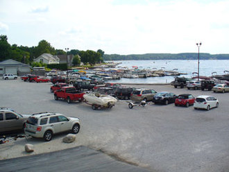 Pine Lake Marina full parking lot