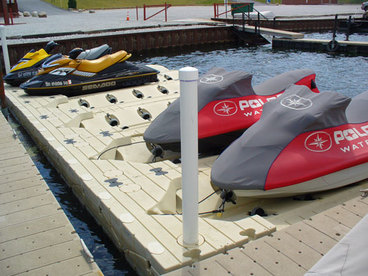 Floating jet ski decks