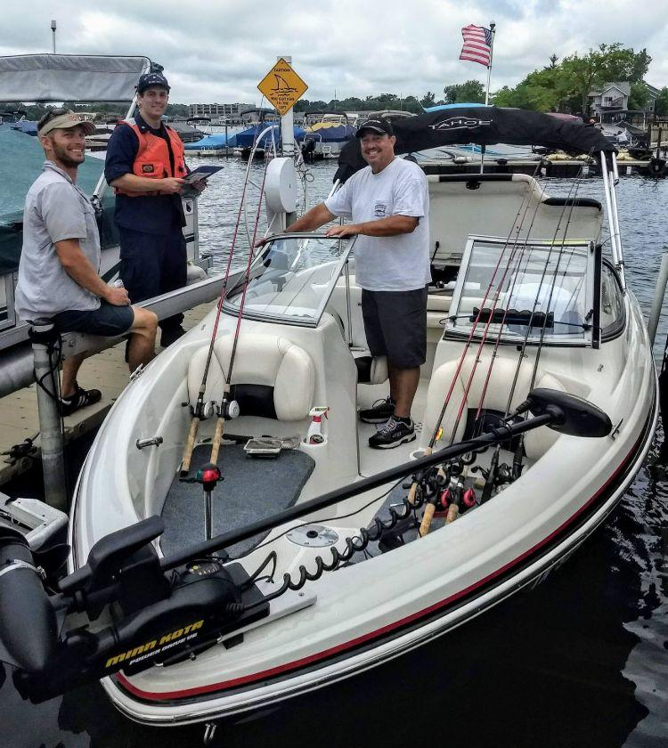 Safety check prior to fishing trip on Pine Lake