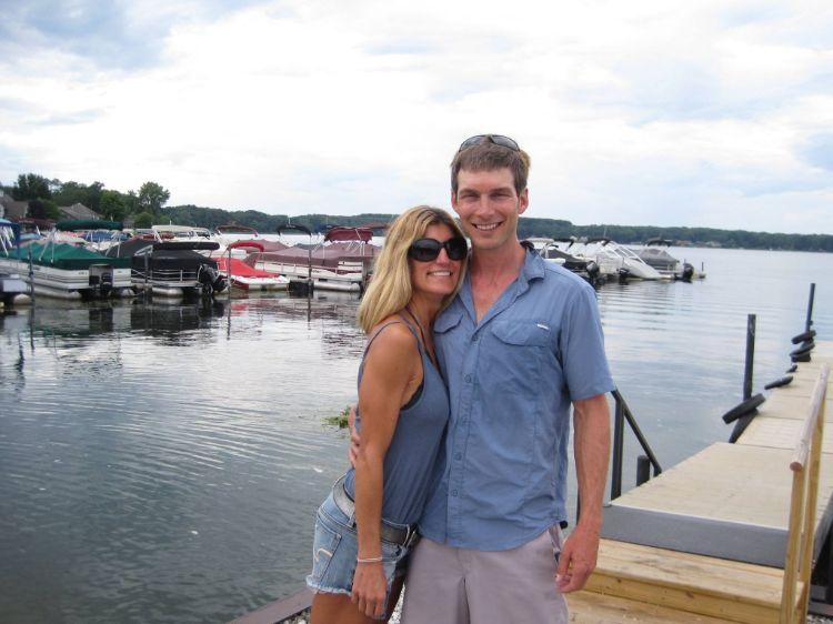 Tony Fay and Gina Marini at Pine Lake Marina